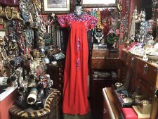 Absolutely Beautiful Vintage Dress Red Oaxacan Mexican Multi Embroidery Dress L
