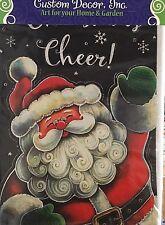 """NEW CUSTOM DECOR GARDEN FLAG MADE USA 12x18"""" """"CHRISTMAS CHEER"""" HOLIDAY CHRISTMAS"""