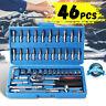 Screwdriver Wrench Socket Set Ratchet Screwdriver Bit Torx Car Repair Tool 46PCS