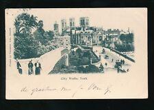 Yorkshire Yorks YORK City Walls u/b Valentine 1901 PPC