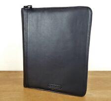 Coach Black Leather Portfolio w/Notepad Zip Closure, UNUSED, $298 Retail Folio