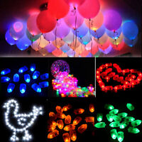 1-100Pc LED Balloons Lights Birthday Christmas Party Ballons Lamp Decor Colorful