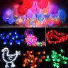 1-100Pc LED Balloons Lights Birthday Christmas Party Ballons Lamp Decor Colorful