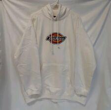 Dickies White Classic Embroidered Logo Hoodie Sweatshirt Men's 2XL Work Apparel