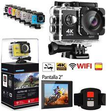 "Camara WIFI ULTRA HD 4K deportiva con mando tipo GoPro 2"" acuática + accesorios"