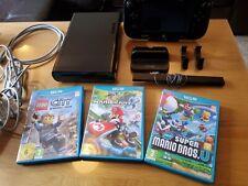 Nintendo Wii U 32GB Black, plus 3 of the best games