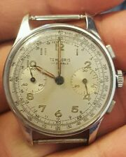 RARE VINTAGE TEMPORIS TWO REGISTER CHRONOGRAPH 17 JEWELS WIND-UP WATCH