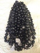 Lot Of 20 Hawaiian Wedding / Graduation Black Kukui Nut Lei Necklace