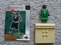 LEGO Sports Basketball - Rare NBA Antoine Walker Boston Celtics #8 w/ Gold Card