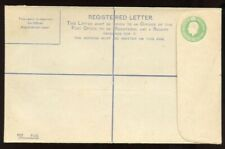 Ireland - 1922 - Postal Stationery - 5 Pence Light Green Registered Envelope