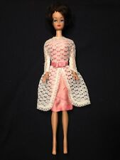 NICE Vintage Barbie Burnette Hair Bubble Cut w Original Dress + Free Midge Doll