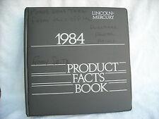 1984 LINCOLN MERCURY TOWN CAR COUGAR MAK VII GRAN MARQUIS PRODUCT FACTS BOOK