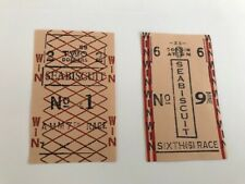 SEABISCUIT - 2003 MOVIE - PROP SEABISCUIT RACE TICKETS