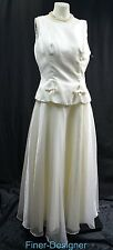 Dave & Johnny Vintage Wedding gown bridal dress ball shimmer chiffon mock 2pc 14