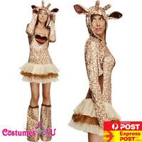 Ladies Giraffe Costume Animal Jungle Zoo Party Book Week Womens Fancy Dress