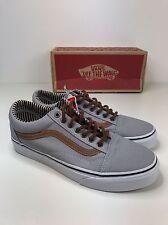 Nuevo Y en Caja Auténtico Vans Old Skool Gris Tan Marrón Zapatos De Skate Zapatillas UK 4