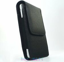 Leather Case Pouch for Apple iPhone 8 7 6 Belt-Clip with Rotating Swivel Holster