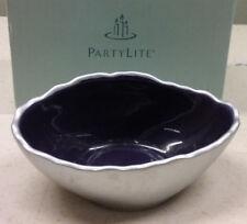 Purple & silver Tealight holder Partylite P901275 Retired