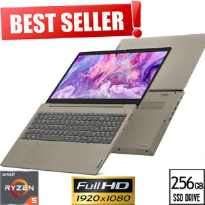 "NEW! LENOVO IdeaPad 15.6"" FULL-HD AMD Ryzen 5 8GB 256GB SSD Win10 Gaming Laptop"