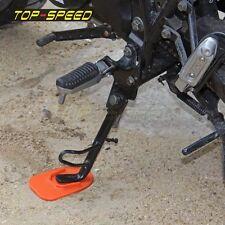 Orange Motorcycle Kickstand Plate Biker's Kick Stand Pad Protect Universal New
