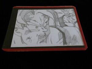new GOKU & MAJIN VEGETA trading card ANIME pencil DRAWING DRAGON Ball Z art ACEO