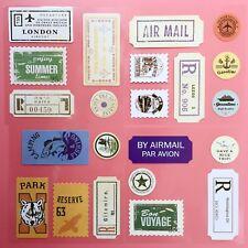 22 Pegatinas de Estilo Vintage materiales efímeros Cardmaking Scrapbooking Sellos entradas Craft