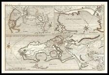 FRANCIA NORMANDIA LA MANICA PORTO STAMPA ORIGINALE 1800