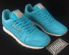 VTG REEBOK CLASSIC TEAL AQUA GUM SOLE RARE DIAMOND DUNK RUNNER PUMP LIMITED SZ 9