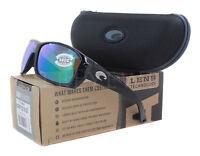 NEW Costa del Mar Cat Cay Black / Green AT11 OGMGLP 580G Sunglasses