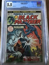 CGC 5.5 Jungle Action #5 *Cream-OW*1973*1st Black Panther Solo title.*