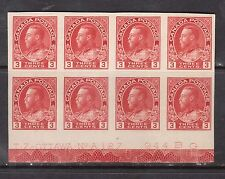 Canada #138 XF/NH Plate #A-127 Block Of Eight