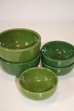 5 Schalen Waechtersbach Spain / grün / 3 x 9,5 cm und 2 x 12 cm