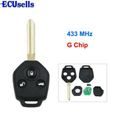 "KEY KEYLESS ENTRY REMOTE FOB for SUBARU XV 2012-2015 Year with ""G"" CHIP 433mhz"