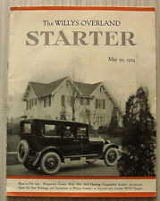 The WILLYS-OVERLAND STARTER Car Magazine 20 May 1924