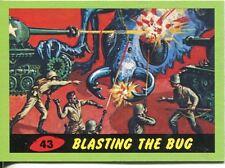 Mars Attacks Heritage Green Parallel Base Card #43    Blasting the Bug