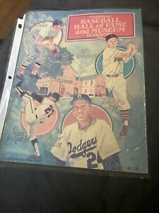 1983 National Baseball Hall of Fame / Museum yearbook Good Condition Robinson