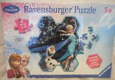 RAVENSBURGER DISNEY FROZEN ELSA'S SNOWFLAKE SHAPED PUZZLE 73 PIECE PUZZLE NEW