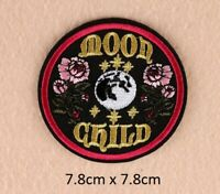 1pcs DIY Moon Child Embroidery Sew On Iron On Patch Badge Fabric Craft Applique