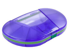 VitaCarry 8 Compartment Gasketed Travel Size Vitamin Case Pill Box (Purple)