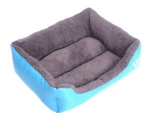 Pet Bed Dog Puppy Cat Soft Cotton Fleece Warm Nest House Mat--Blue 2