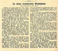 Nel conquistarono Bialystok * equipaggio tedesco nel 1.wk storico memorabile 1916