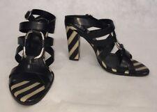 Roger Vivier Women Shoes Size 37 NIB Sandal Campeuse Black Leather Heels