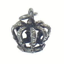 Royal Cage Crown King Queen Bracelet Charm Pendant 0.8g 0.35in J765