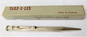 NO RESERVE c1950 Yard O Led Rolled Silver Mechanical Propelling Pencil Vintage