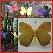 Solar Powered Garden Decor Dancing Flickering Yellow Butterfly Stake