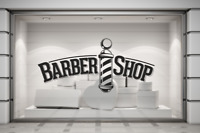 Barber Shop Pole sign Hair Dressers Wall/Window decal sticker art. Any colour