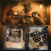 "NEW STEAMPUNK FLEECE THROW BLANKET 50 x 60"" SUPER SOFT. GREAT CHRISTMAS GIFT"