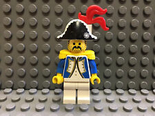 Vintage Lego Pirates Governor with Red Feather, Blue 6276 Eldorado Fortress