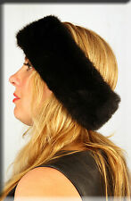 New Black Mink Fur Headband Efurs4less