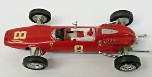 1960's Monogram FERRARI GP F1 1:32 scale slot car assembled kit s1